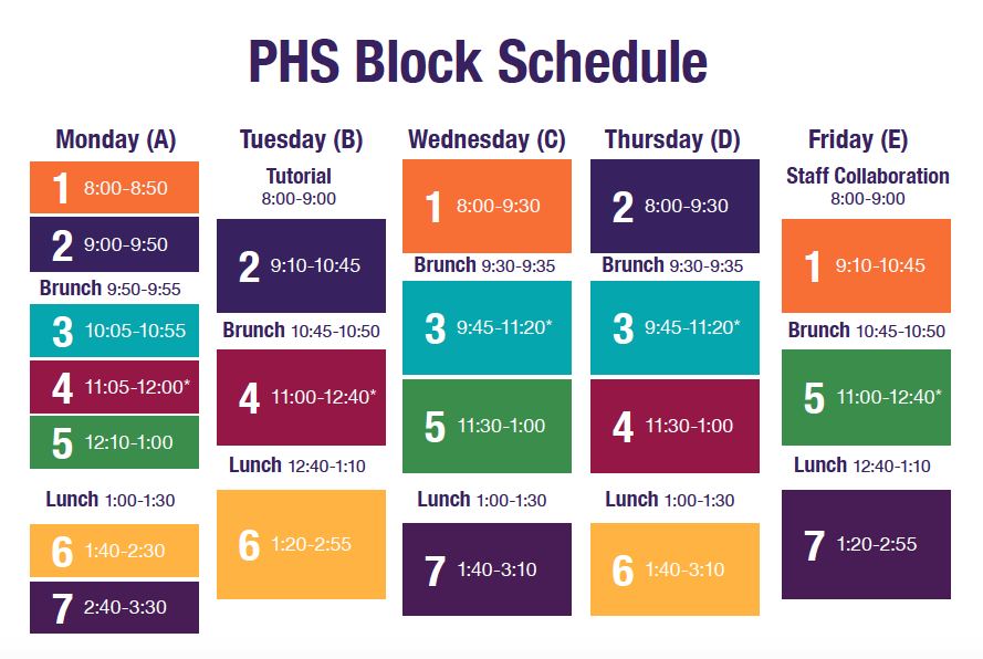 PHS and MHS Bell Schedule